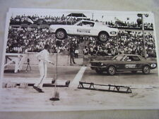 1965 FORD MUSTANG FASTBACK THRILL SHOW JUMP CAR  11 X 17  PHOTO  PICTURE
