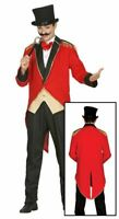 Mens Circus Ringmaster Presenter Fancy Dress Costume Showman Adults Outfit
