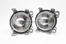 VW Transporter T3 T25 79-92 Clear Headlights Headlamps With Bezel Pair Set Hella
