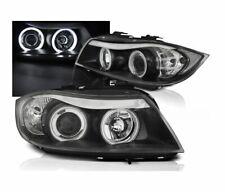 HEADLIGHTS LPBMH7 BMW E90 E91 2005-2008 SALOON TOURING ANGEL EYES CCFL BLACK RHT