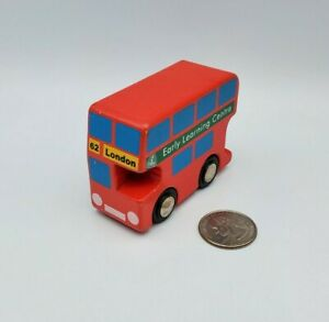 Early Learning Centre ELC Wooden Railway London Bus 62 - works w/ Thomas - BRIO
