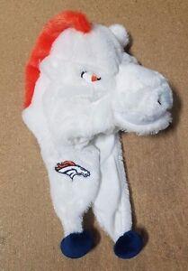 Denver Broncos Team Logo - Mascot Dangle Hat - NEW soft plush Youth - MILES