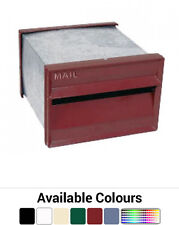 """Front and Back Set 9"""" Aluminium Letterbox - Classic Brickin Mailbox Letter Box"""