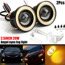"2.5""Angel Eye COB Yellow Halo Ring LED Car DRL Projector Lens Fog Driving Light"