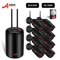 ANRAN 8CH 1080P Wireless NVR Kit Outdoor CCTV Home Security IP Camera System 2TB