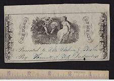 RARE Reward of Merit - ca 1840s - George Washington - Bank Note Style Engraving