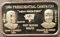 PRESIDENT John F. Kennedy VS Richard M. Nixon 1 oz .999 SILVER ART BAR 1960