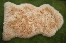 LARGE - BISCUIT BROWN / BEIGE - 100% GENUINE AUSTRALIAN SHEEPSKIN RUG
