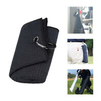 Golf Cleaning Microfiber Towel with Carabiner Clip Super Absorbent Cotton Towel*