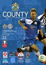 22 Stockport County V Brackley Town 2017-18 FA Trophy Programme
