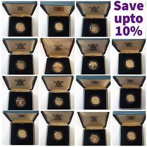 SILVER PROOF £1 ONE POUND COINS CHOICE OF YEAR 1983 TO 2015 WITH CERTIFICATES