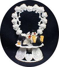 Happy Penguin Kickin Feet Wedding Cake topper funny top nature Animal Heart Lay