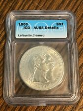 Rare Commemorative 1900 Lafayette Dollar ICG AU-58 Details Cleaned