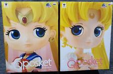 QPosket Japan Sailor Moon & Princess Serenity 20th Anniversary Action Figure SET