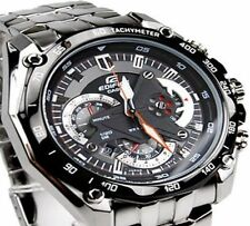 Import Casio Edifice EF-550D1AVDF Chronograph Black Dial  Men's Watch