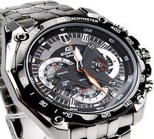 Import Casio Edifice EF-550D1AVDF Chronograph Black Dial  Men's Watch