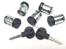 Set of 5 Door Locks Barrel for Fiat Scudo 95-07 Ulysse 94-02 - 5 YEAR WARRANTY