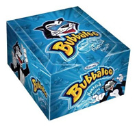 Bubbaloo Menta Chicle Globo Mint Bubblegum, 300 g / 10.6 oz (box of 60)