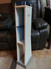 EX NINTENDO Wii CONSOLE GAMESTOP RETAIL STORE DISPLAY STAND COMPLETE BLUE SHELF