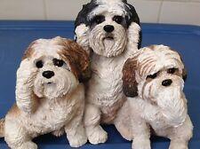"Danbury Mint - Shitzu ""Bark No Evil"" Dog Statue / ""Hard to Find"" & ""Rare"""