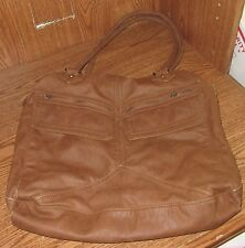 Vintage Converse One Star Bag Zipper Purse Medium Brown Used Pocketbook Shoulder