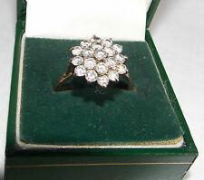 Cz Prong Cluster Ring Size 9 Beautiful 9K Yellow Gold Cubic Zirconia