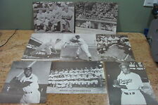 8 Black & White Photos of Willie Mays, Jackie Robinson, Don Drysdale, USC#159