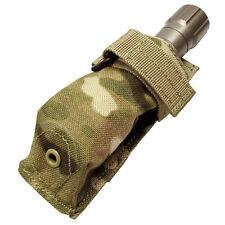 CONDOR MOLLE Modular Tactical Nylon Flashlight Pouch ma48-008 MULTICAM CAMO