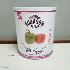 Augason Farms Freeze Dried Food Diced Red & Green Bell Peppers #10 Can