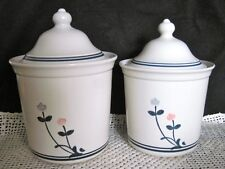 WINDSONG TULIPS CANISTERS, Pfaltzgraf 2 Qt Coffee 508 & 1.5 Qt Tea 509 Container