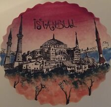 """Rare City View Of ISTANBUL, TURKEY 7"""" Turkish Collector Plate Handmade"""