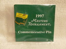 1997 Augusta National Masters Tournament Commemorative Pin Flag Tiger Woods New