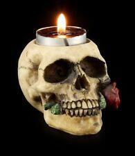 Porte-bougies - Tête de mort avec rose - FANTASIE Gothique Chandelier