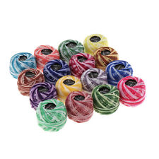 16pcs Mixed Colors Cross Stitch Line Embroidery Cotton Thread Floss/Skeins