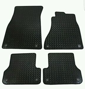 Audi A6 2011+ (C7) Fully Tailored 4 Piece Rubber Car Mat Set with 8 Clips