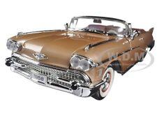1958 CADILLAC ELDORADO BIARRITZ GOLD 1/18 DIECAST MODEL BY ROAD SIGNATURE 92158