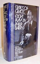 Philip Barry STATES OF GRACE: Eight Plays First Edition Very Scarce HB Book!