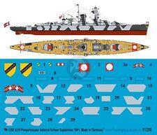 Peddinghaus 1/1250 Admiral Scheer German Kriegsmarine Cruiser WWII Markings 3219