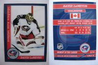 2015 SCA David LeNeveu Columbus Blue Jackets goalie never issued produced #d/10