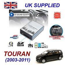 VW TOURAN 03-11 MP3 USB SD CD AUX Ingresso Adattatore Audio Digital CD Changer modulo