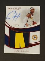 2018 Immaculate Aaron Holiday RC Auto True RPA 2 Color Patch /25 Top Rookie