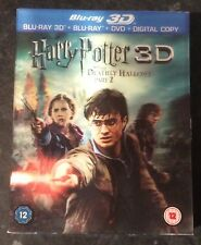 HARRY POTTER AND THE DEATHLY HALLOWS PART 2 (3D BLURAY 4-DISC) MINT CONDITION