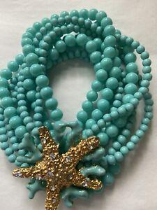 KJL stretch turquoise starfish