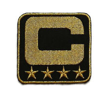 New NFL Team Captain P1 Black Gold 4 Star Embroidered Iron on Patch High quality