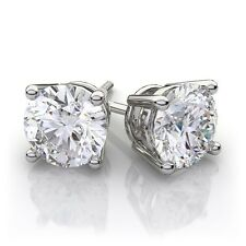 1.45 ct Canadian Diamond Earrings White Gold Free FedEx 2 Day Shipping