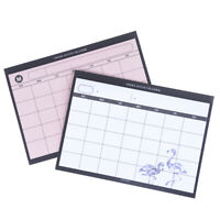 Creativo Simple Planificador Escritorio Plan Mensual Mini Portátiles Eficien*QA