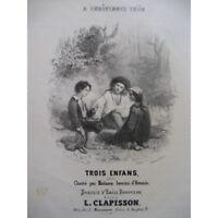 CLAPISSON Louis Tres Niños Chant Piano ca1840 partitura sheet music score