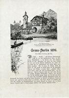 Berlin 1896 orig. Kapitel Alpen-Panorama Kreuzberg Jannowitz Brücken Dom Spree