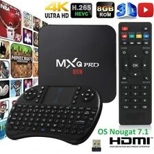 MXQ Pro 4K S905W 64-bit Android 7.1 1G+8GB DDR4 HD 4K 3D Smart TV Box KEYBOARD