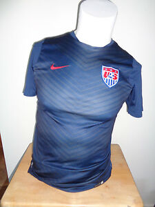 VINTAGE NIKE TEAM USA NATIONAL SOCCER/FOOTBALL SMALL SEWN PRACTICE JERSEY 2014